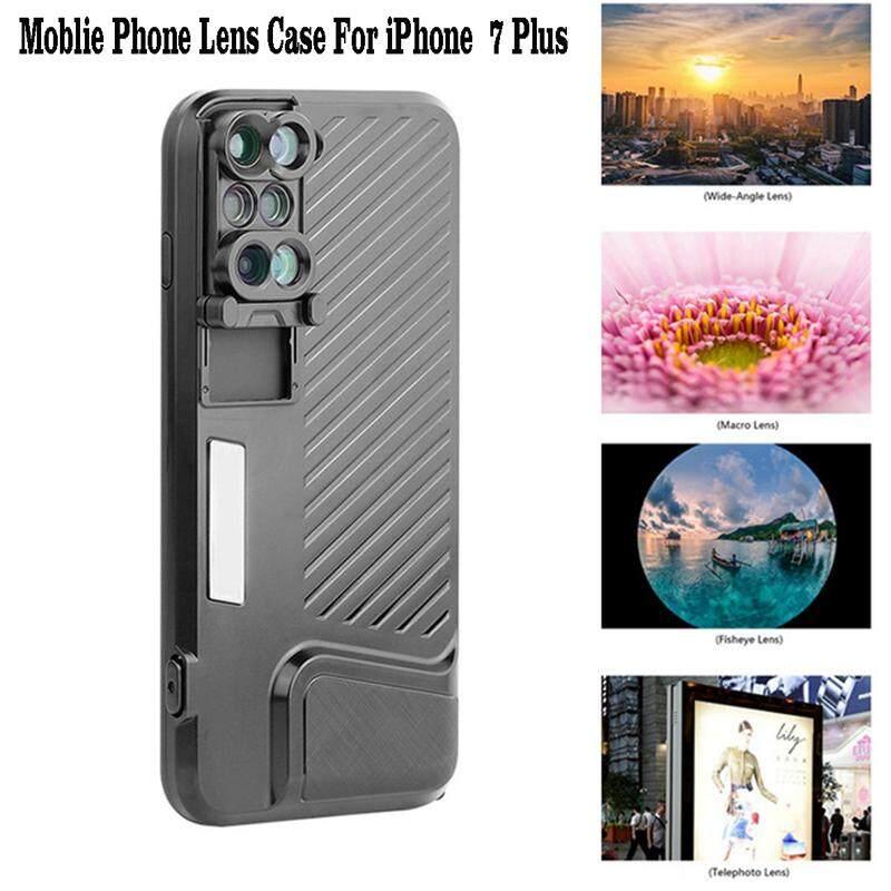 ZT Langit untuk Apple iPhone 7 Plus Ponsel Lensa Kamera Ganda Fisheye Makro Sudut Lebar Teleskop Telepon Kamera Lensa dengan Perlindungan Case-Intl