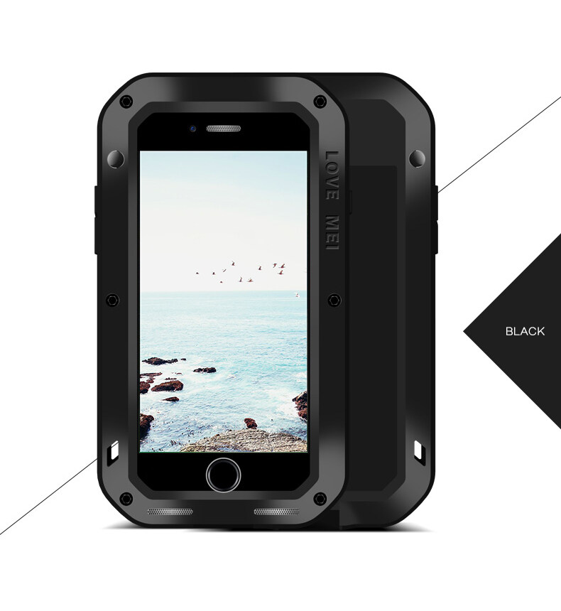 Buy For Apple Iphone 8 Plus Love Mei Powerful Luxury Doom Metal Armor Shock Proof Aluminum Case For Iphone8 8Plus Waterproof Case Intl Cheap On China