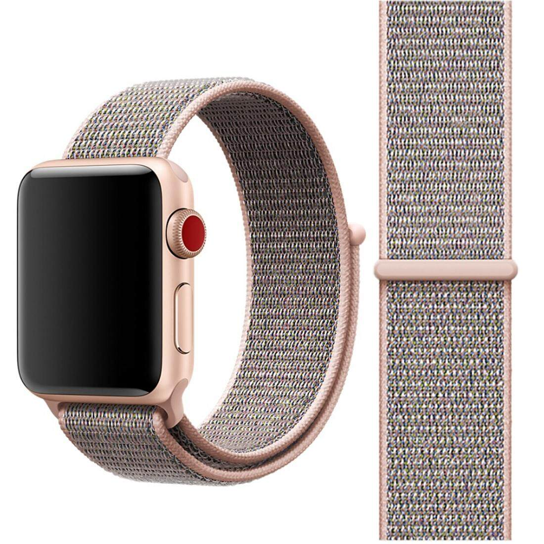 How To Buy For Apple Watch Series 3 And 2 And 1 38Mm Simple Fashion Nylon Watch Strap With Magic Stick Pink Intl