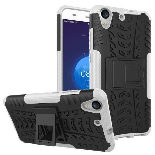 PC+TPU Hybrid Back Cover Impact Resistant Shockproof With Built in Stand .
