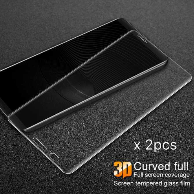 Top Rated For Huawei Mate 10 Pro Ultrathin Anti Explosion H 3D Curved Tempered Glass Screen Protector For Huawei Mate10 Pro Full Cover Tempered Glass (X2Pcs) Intl