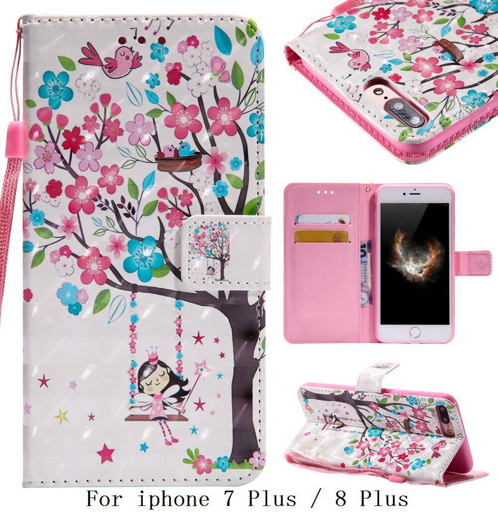 Iphone Case 7 Plus Wallet Women Price In Singapore Goospery Canvas Diary Navy For 8 Tree Girl Birds High End Leather Flip