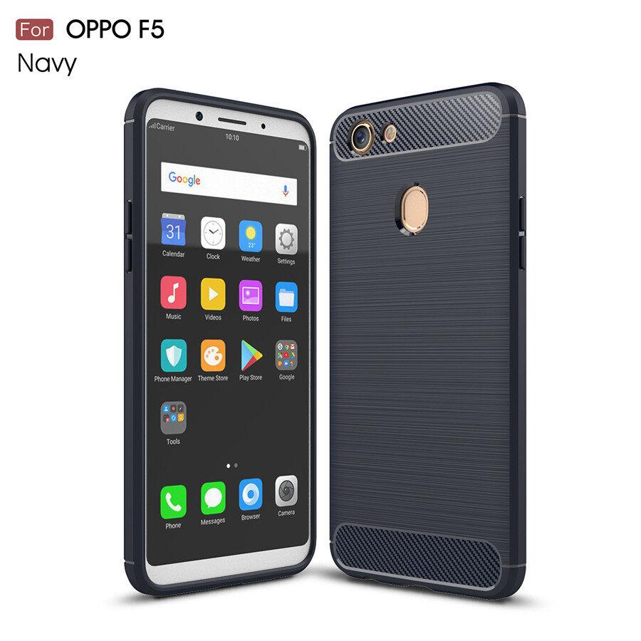 To OPPO A73 Sarung Mewah Karbon Serat Sampul Belakang Anda OPPO F5 Kasus Telepon Anda OPPO