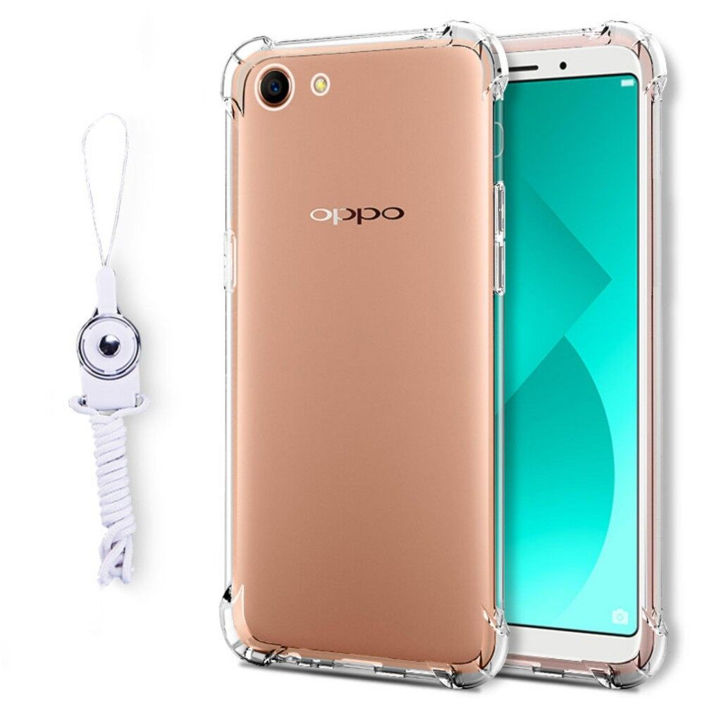 Case Anti Shock / Anti Crack Elegant Softcase for Oppo F5 - White Clear. Source