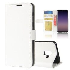 For Samsung Galaxy A8 2018 PU Leather Wallet Case Flip Stand Function Card Slots Cover with