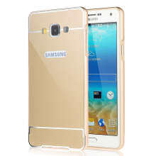 Lux Metal Aluminum Frame Ultra Slim Cover for Samsung Galaxy A8 Gold