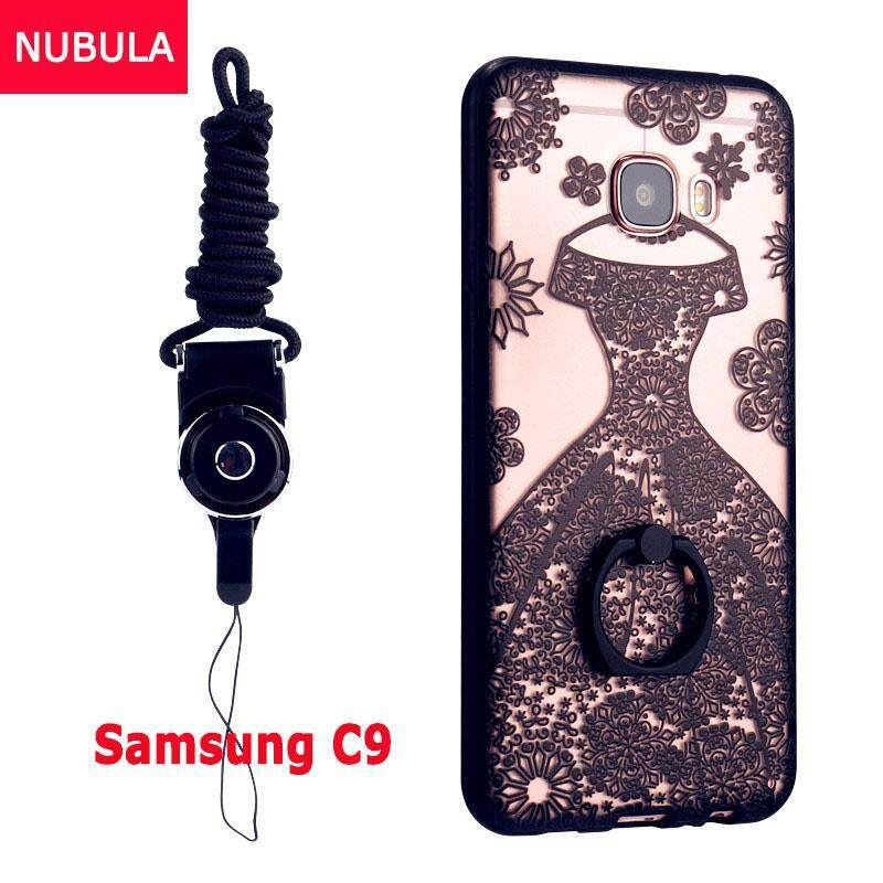 For Samsung Galaxy C9 / C9 Pro Case Cover New Hot Sell FashionUltra-thin 3D Stereo Relief Colorful Painting Soft Back Covers/Antifalling Phone Cover/Shockproof Phone case With Metal Ring and PhoneRope (HUNSHA)