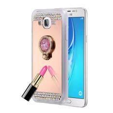 For Samsung Galaxy J3 (2016) / J310 Diamond Encrusted Electroplating Mirror