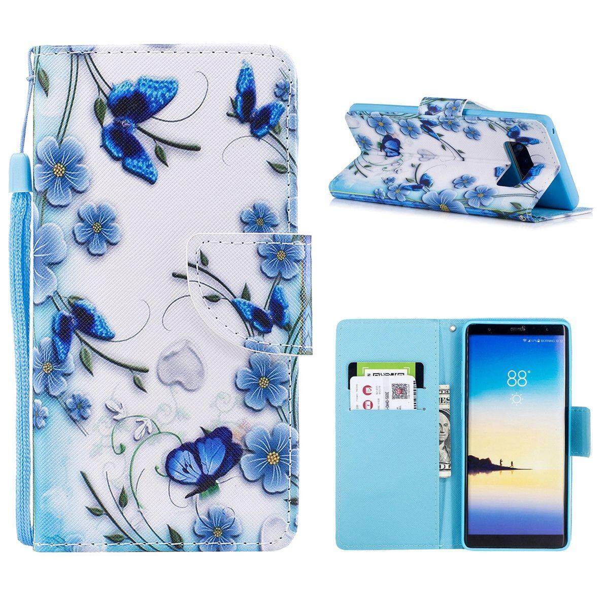 For Samsung Galaxy Note 8 Case, Premium Wallet PU Leather Flip Cover Casing - intl