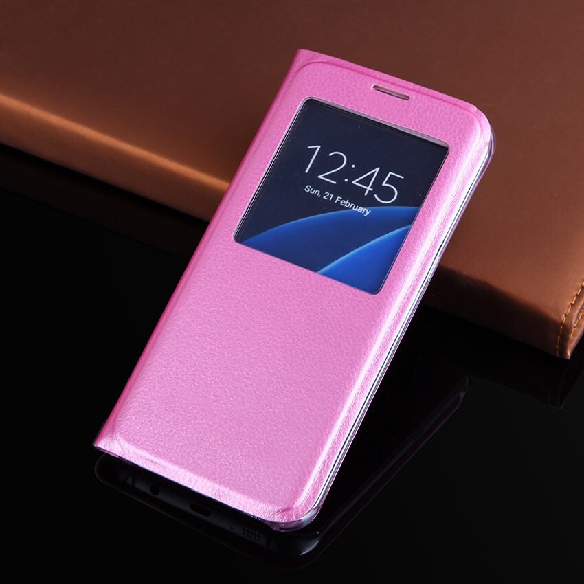 For Samsung Galaxy Note 8 Case Window PU Flip Phone Case Cover For Samsung Note8 - intl