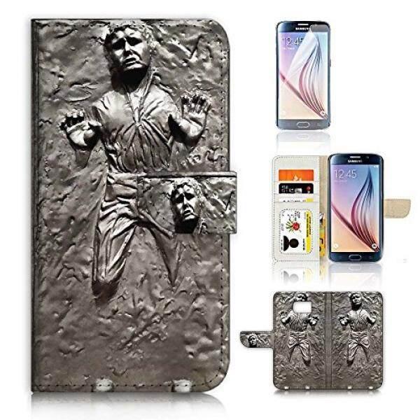 (Untuk Samsung Galaksi S6) Dompet Case Sarung & Layar Pelindung Bundel A8555 Starwars Han Solo-Internasional