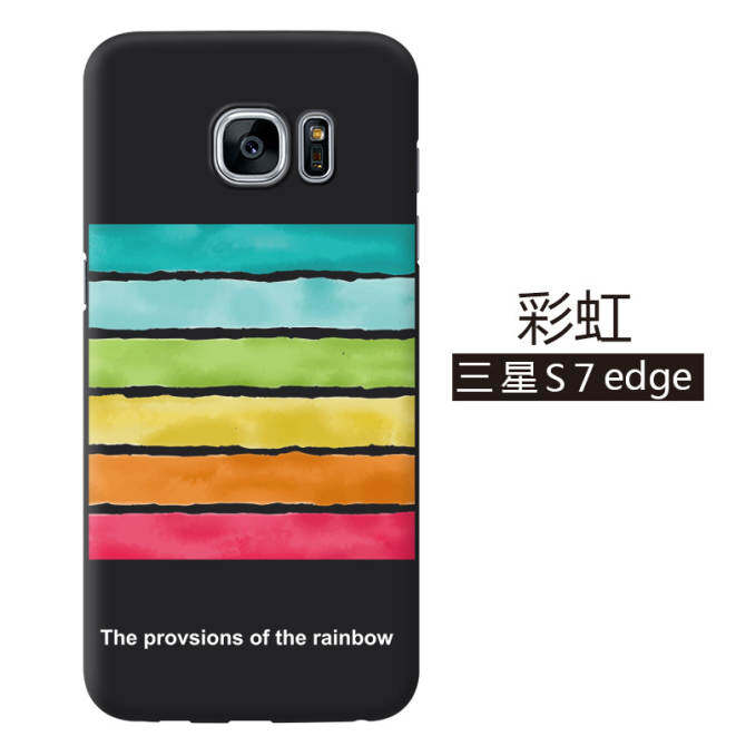 Untuk Samsung Galaxy S7 Edge Fashion Pola Kotak Telepon Plastik Cangkang Pelindung Ponsel Ponsel Sarung Telepon