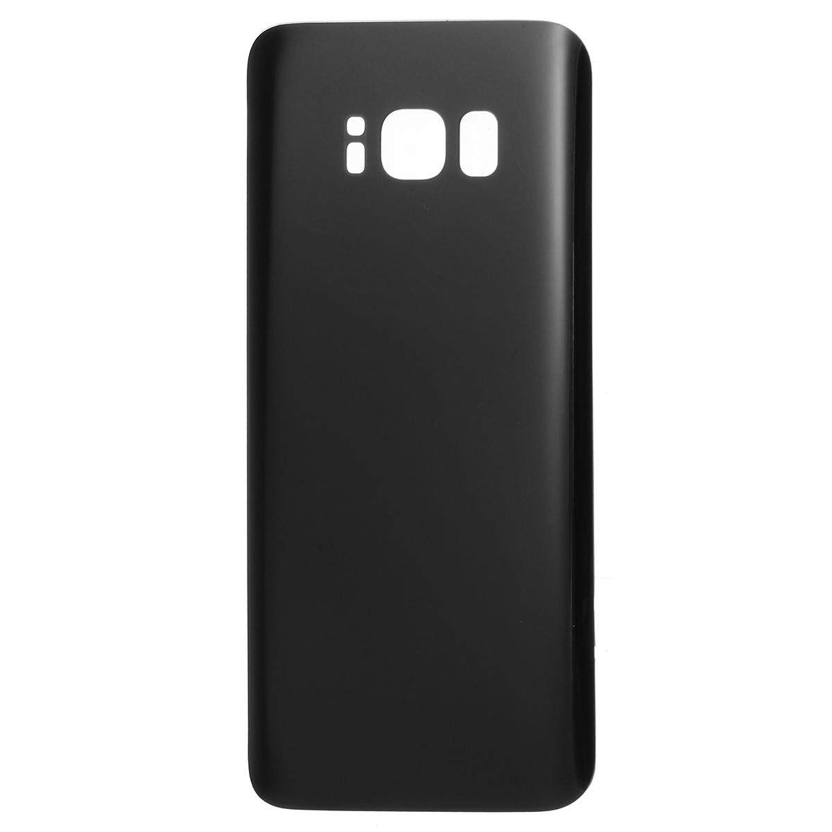 for Samsung Galaxy S8 G950/ S8 Plus G955 Glass Rear Back Battery Door Cover Black