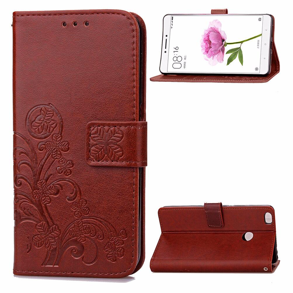 Harga untuk xiaomi mi maksimum keberuntungan semanggi pu kulit lipat magnet dompet slot kartu pelindung case