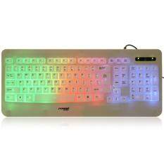 Forev FV - L6 103-Key Colorful USB Wired LED Backlight Keyboard (White) Malaysia