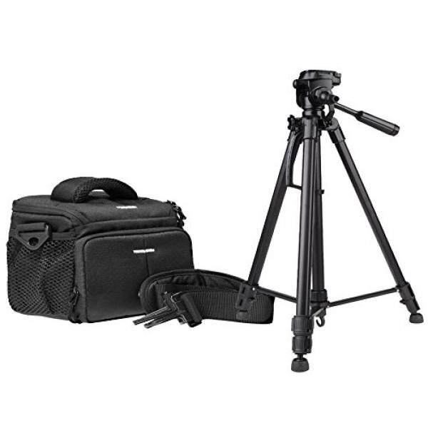 Foto Kamera Tasche Aksi Hitam Tasche Set MIT Foto Videostativ Inkl. Stativtasche F? R Canon EOS 1300D 1200D 760D 750D 700D 80D Nikon D7200 D610 D500 D5500 D5300 D3300 D3200-Intl