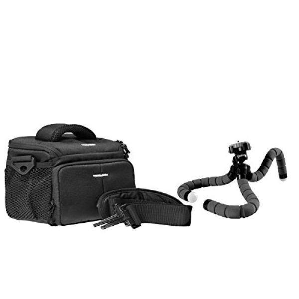Foto Kamera Tasche Aksi Hitam Tasche Set MIT Reisestativ Flexi Rollei Monyet F? R Canon EOS 1300D 1200D 760D 750D 700D 80D Nikon D7200 D610 D500 D5500 D5300 D3300 D3200-Intl