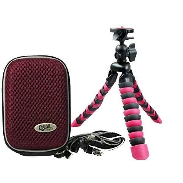 Foto Kamera Tasche Hardbox Plum Set MIT Flexi Reise Stativ F? R Sony DSC-RX100 V HX80 Sony DSC-RX100 IV WX500 HX90V RX 100III HX60V-Intl