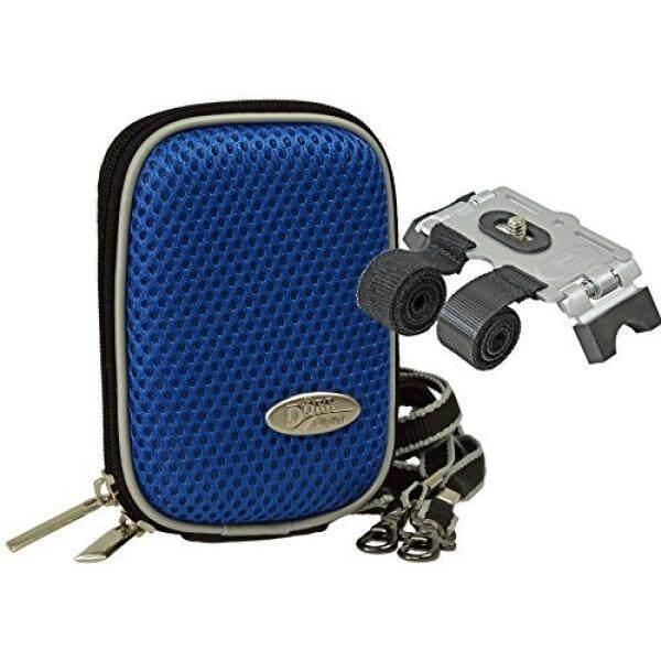 Foto Kamera Tasche Hardbox S Blau Set MIT Klett-Stativ F? R Fahrradlenker Gel? nder Dll F? R Sony WX500 WX350 WX220 Canon IXUS Nikon Coolpix USW. -Intl