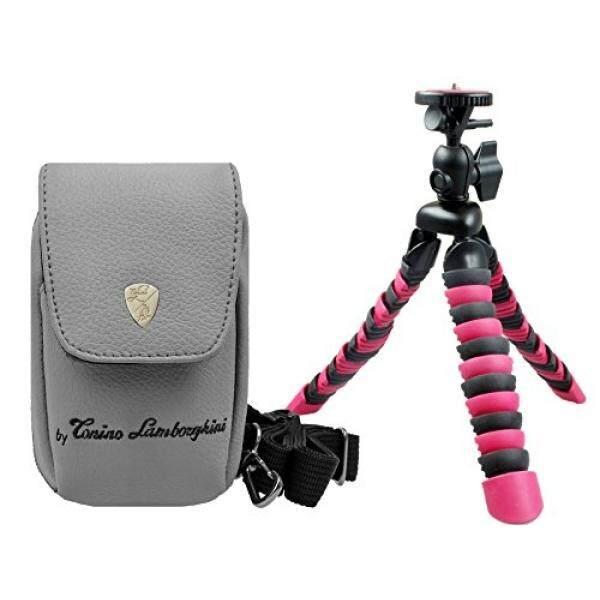 Foto Kamera Tasche Lamborghini Leder Set mit flexi Reise Stativ f?r Sony DSC-RX100 V HX80 RX100 IV iii WX500 HX90 V HX60 V - intl
