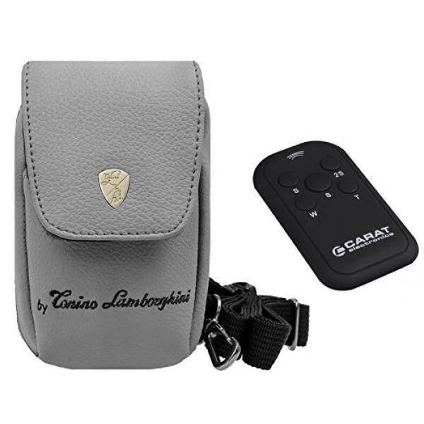 Foto Kamera Tasche Lamborghini Leder Set MIT Infrarot Fernbedienung F? R Canon IXUS 190 185 180 285 275-Intl
