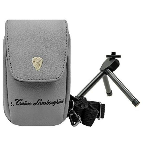 Foto Kamera Tasche Lamborghini Leder Set MIT Tisch Stativ F? R Sony DSC-RX100 V HX80 Sony DSC-RX100 IV WX500 HX90V RX 100III HX60V-Intl