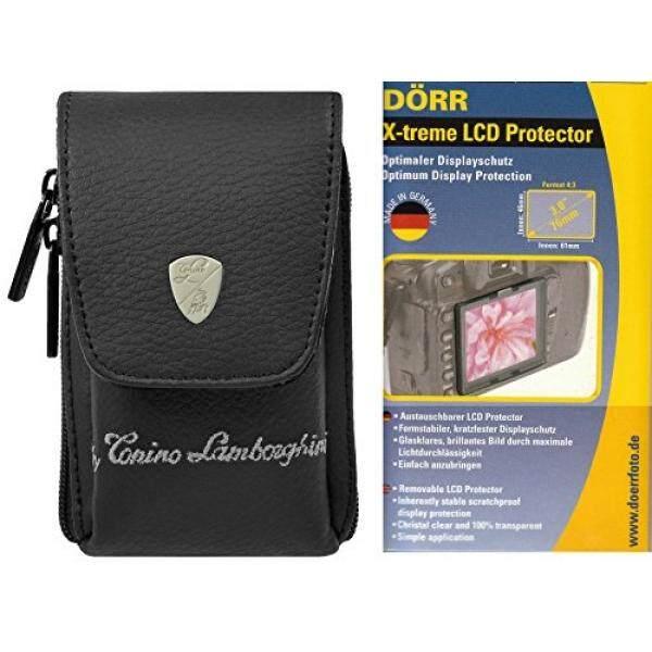 Foto Kamera Tasche Leder Lamborghini Set MIT 3 Zoll LCD Schutzfolie F? R Canon IXUS 220 285 275 265 255 185 1 Sony DSC-WX350 WX220 W830 W810-Intl
