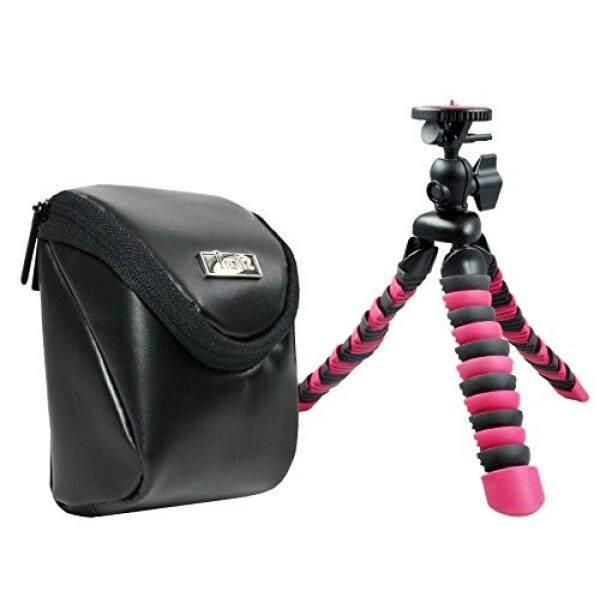 Foto Kamera Tasche Leder MIT Reise Stativ Rollei F? R Sony Cybershot DSC W830 WX350 WX220/Canon IXUS 285 HS 275 180 175/Panasonic Lumix DMC SZ10/Nikon COOLPIX A300 a100-Intl