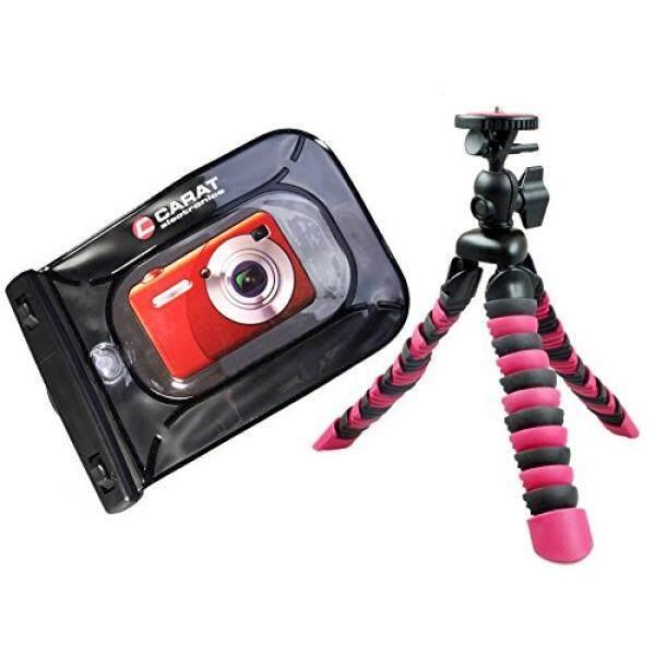 Foto Kamera Tasche Outdoor-/Unterwassertasche Set MIT Reise Stativ Rollei 100 F? R Sony Cybershot DSC W830 WX350 WX220/Canon IXUS 285 HS 275 180 175-Intl