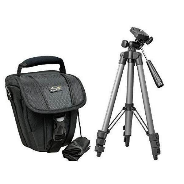 Foto Kamera Tasche Zoom M Set MIT Reise-Stativ F? R Nikon SLR D5500 D5300 D5200 D3300 D3200 Canon EOS 1300D 1200D 700D Sony Alpha 6000 5100 Und Viele Andere-Intl