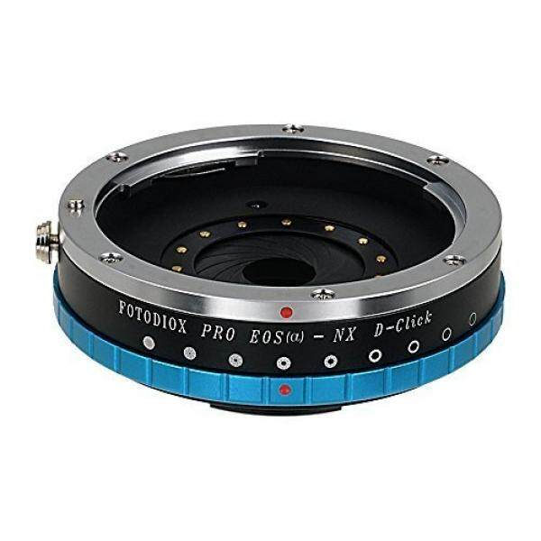 Fotodiox Pro Lens Mount Adapter with Built-in De-Clicked Iris, Canon EOS EF Lens (NOT EF-S Lens) to Samsung NX Camera Adapter, Fits Samsung NX1, NX3000, NX Mini, NX30, Galaxy NX, NX2000, NX 1100, NX300, NX300M Mirrorless Digital Cameras - intl
