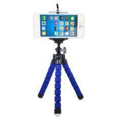 [free Phone Holder] New Portable Phone Tripod Camera Holder Tripod Flexible Octopus Tripod Bracket Stand Mount Monopod For Phone & Camera (blue) By Kawan Ku.