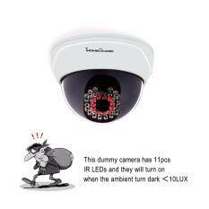 (buy 1 Get 1 Free & Free Warning Sticker) Dome Wireless Dummy Fake Infrared Ir Cctv Surveillance Security Camera Monitor With Imitation Simulated Led By Asian Trends.