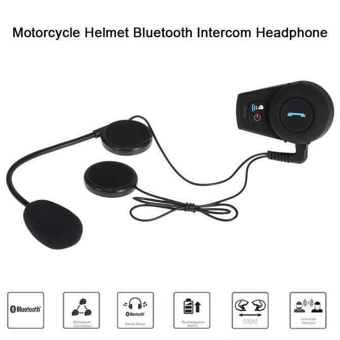 Freedconn Motorcycle Helmet Bluetooth Intercom Wireless Interphone Headsets 500M Intercom Distance FM Radio Hands-free