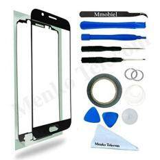 Front Glass for Samsung Galaxy A5 Duos A510 (2016) Black Display Touchscreen incl 12 pcs Tool Kit /Pre-cut Sticker / Tweezers/ Roll of Adhesive Tape /Suction Cup / Metal Wire / cleaning cloth MMOBIEL