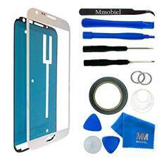 Front Glass for Samsung Galaxy NOTE 2 N7100 N7105 i605 T889 i317 White Display Touchscreen incl 12 pcs Tool Kit / Pre-cut Sticker / Tweezers/ Roll of 2mm Adhesive Tape / Suction Cup / Metal Wire / Microfiber cleaning cloth MMOBIEL