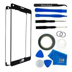 Front Glass for Samsung Galaxy NOTE 3 N900 N9000 N9005 Black Display Touchscreen incl 12 pcs Tool Kit / Pre-cut Sticker / Tweezers/ Roll of 2mm Adhesive Tape / Suction Cup / Metal Wire / Microfiber cleaning cloth MMOBIEL