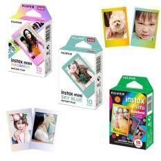 Fujifilm Instax Mini Film Rainbow + Macaron + Sky Blue 30 Sheets For Fujifilm Mini 8 8+ 9 25 50s 70 Camera Sp-2 By Misuta