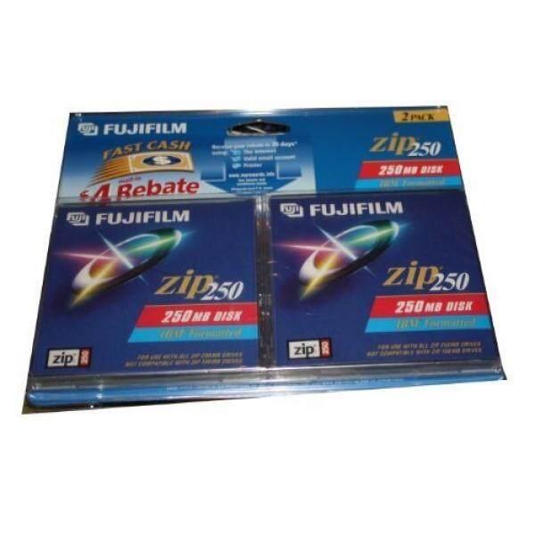 FUJIFILM Zip 250 MB Disk-2 Pack IBM Diformat untuk Digunakan dengan Iomega 250 MB Zip Drive-Intl