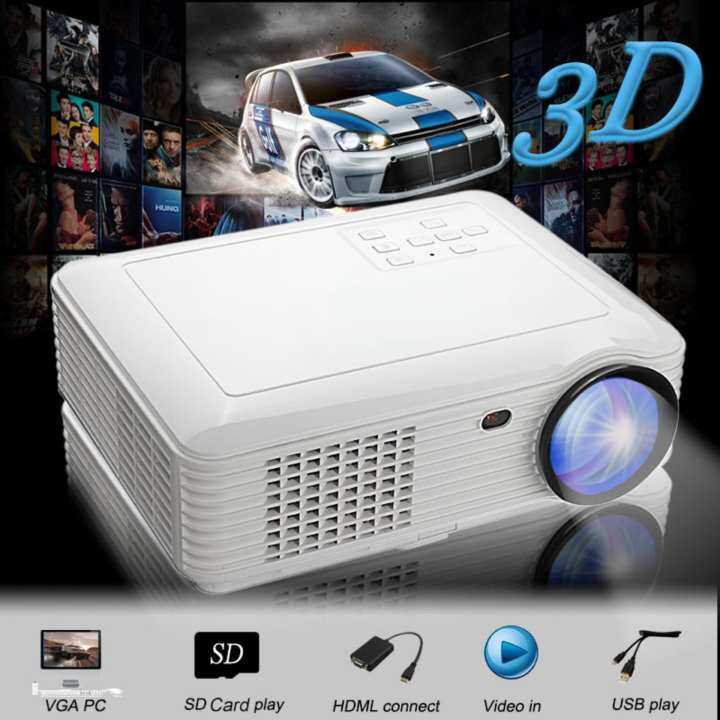 X7 Home Cinema Theater Multimedia Led Lcd Projector Hd: Full HD 1080P 5000 Lumens 3D LED Projector Home Cinema