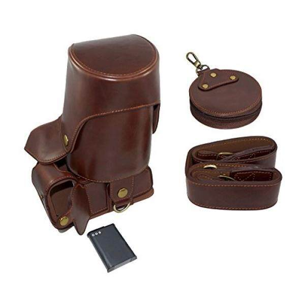 Full Protection Bottom Opening Version Protective PU Leather Camera Case Bag with Tripod Design Compatible For Nikon COOLPIX P900 with Shoulder Neck Strap Belt and Storage Card Case Dark Brown - intl