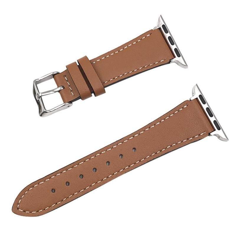 Dây Đeo da Thay Thế Dây đồng hồ Watchbands dành cho Đồng Hồ Apple IWatch 42mm 44mm (Nâu Đậm)