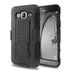 Pelindung Kerusakan Masa Depan Sarung Hybrid Wadah untuk Samsung Galaxy J1 (2016) J120 Ponsel Pelindung Belakang + Klip