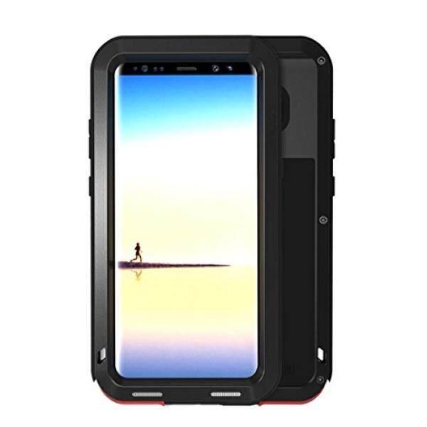 Galaksi Note 8 Case, mangix CINTA MEI Air Tahan Anti Guncangan Aluminium Logam Super Anti Shake Silikon Penuh Badan Perlindungan untuk Samsung Galaksi Note 8 (Hitam) -Internasional