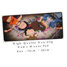 Professional uses Game Mouse Pad Non slip Professional uses 70cm*30cm Rubber Map Cartoon One Piece Luffy 3 Brothers Anime Design Unisex Malaysia