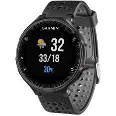 Garmin Forerunner 235 GPS berjalan perhiasan dengan pergelangan tangan berbasis denyut jantung (Kelabu Hitam)