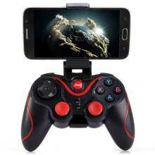 GEN GAME Gen Game S5 Bluetooth Wireless Game Controller Gamepad Joystick Android/IOS with PHONE HOLDER (Black)