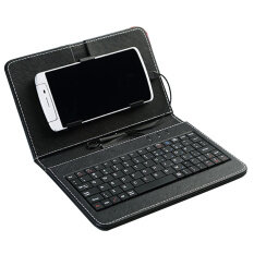 General Wired Keyboard Flip Holster Case For Android 4.2-6.8 Mobile Phone Unique Pu Leather With Keypadblack By Yidea Hongkong.