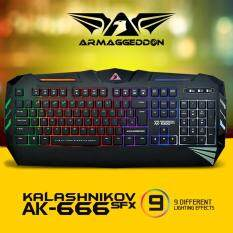 ARMAGGEDDON AK-666SFX SPILL PROOF GAMING KEYBOARD ANTI GHOSTING GAMING CLUSTERS. ADJUSTABLE 9 DIFFERENT LIGHTING EFFECTS. 104 MEMBRANE SILENT KEYS & MULTICOLOUR LED BACKLIGHTS. Malaysia