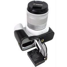 Asli Sarung Kamera Kulit Half Body Sarung Bawah untuk Canon 200D Tas Kamera